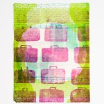 Baggage #2. Letterpress. Linoleum, photopolymer, and collagraph.
