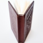Reproduction binding of the St. Cuthbert Gospel of St. John. Photography by Andrea Mabry Photography