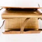 Reproduction binding of a Nag Hammadi Codice. Photography by Andrea Mabry Photography