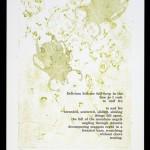 Delirium. 2010 Letterpress printed linoluem, handset text, and collagraph.